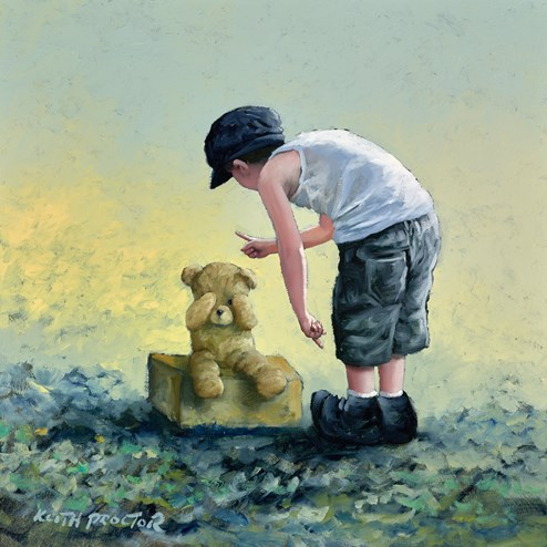 The Naughty Step  by Keith Proctor - Original Painting on Stretched Canvas